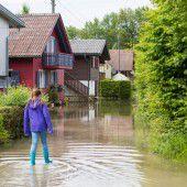 Klein Venedig in Fußach wegen Hochwasser evakuiert