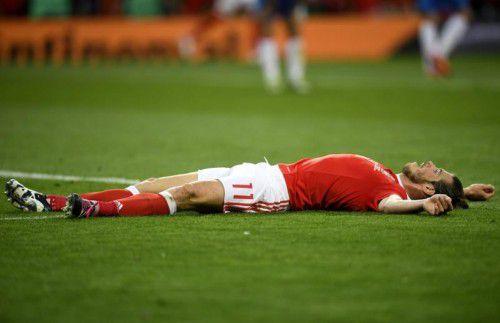 Gleich vier der fünf EM-Debütanten haben die Vorrunde überstanden. Einer davon ist Wales mit Gareth Bale (Bild), der die Torschützenliste der Euro 2016 mit drei Treffern anführt.