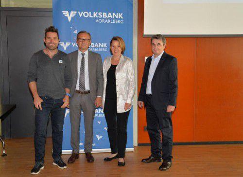Hannes Arch (l.) war als Referent beim Treffen der Klein- und Mittelbetriebe im Dornbirner Rathaus zu Gast.