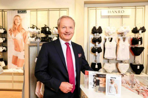 Huber-Holding-Vorstandsvorsitzender Martin Zieger sieht den Vorarlberger Wäscheerzeuger auf dem richtigen Weg.
