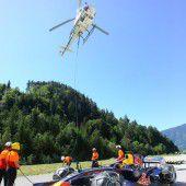 Fliegender Bolide sorgt für Formel-1-Fieber