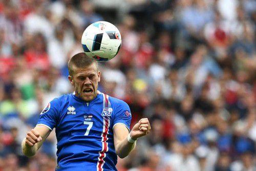 Johann Berg Gudmundsson und seine isländischen Kollegen werden gegen England ihre kämpferischen Vorzüge auspacken.
