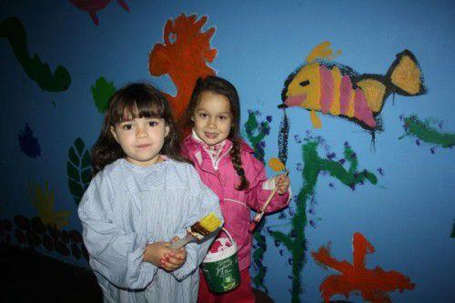 Kinder haben die Unterführung zum Schwarzbad neu gestaltet.