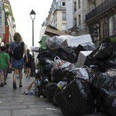Streikchaos und Müllberge in Paris zum Start