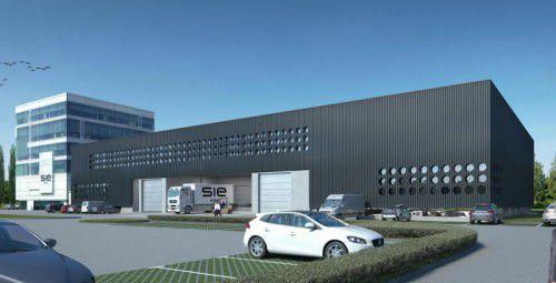 Platz für weiteres Wachstum des Hightechunternehmens S.I.E. entsteht im Neubau im Lustenauer Millennium-Park.