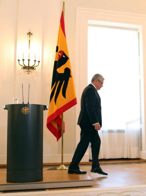 Präsident Joachim Gauck tritt nach dieser Amtszeit ab.