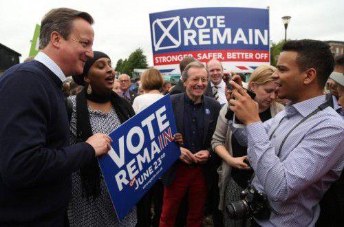 Premier Cameron kämpft um letzte Stimmen. Wie es mit ihm nach dem Referendum weitergeht, ist unklar.