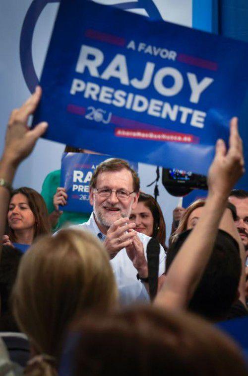 Premier Rajoy kann mit den meisten Stimmen rechnen.