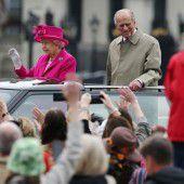 Die Königin ließ sich drei Tage lang feiern