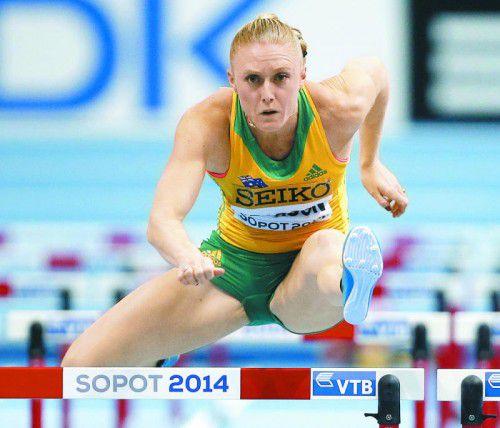 Sally Pearson kann ihr Olympia-Gold nicht verteidigen.