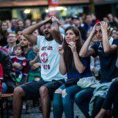 Wetter bei Public Viewing im Land bleibt Glücksspiel