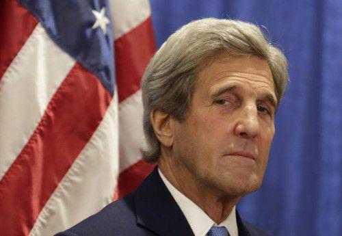 US-Außenminister John Kerry reist heute in Brüssel und London.