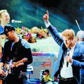 Coldplay spielten bei Prinz Harrys Konzert