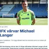 Michael Langer in Norrköping vor dem Debüt