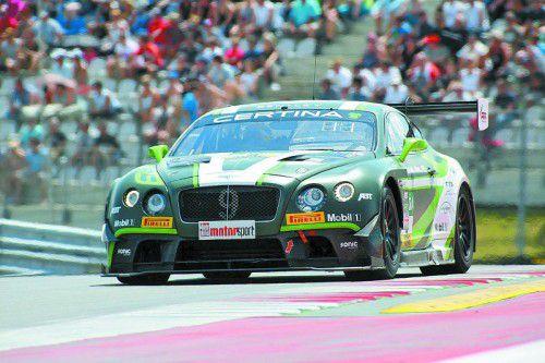 ADAC-GT-Masters-Seriendebütant Marco Holzer war im Bentley-Continental-GT3 auf Anhieb schnell unterwegs
