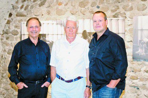 Albert Ruetz (l.), Heinz Lingenhöle und Thomas Schiretz.
