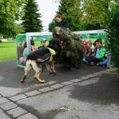 Rettungshunde zeigten Schülern ihr Können
