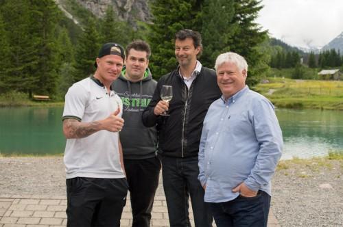 Christopher Knett, Flo Matt, Stephan Muxel und Clemens Walch.
