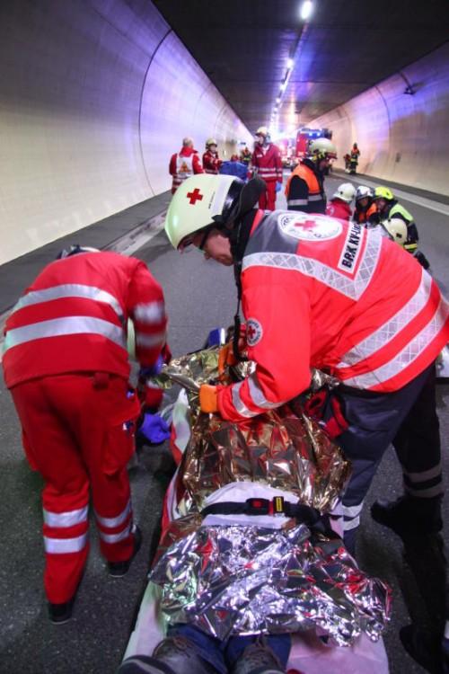 Das Rote Kreuz informiert über seine Leistungen.