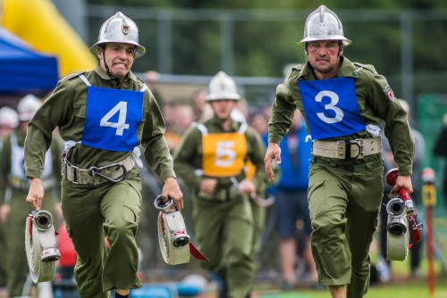 Der Feuerwehrleistungswettbewerb verlangte von den Florianijüngern vollen Einsatz.