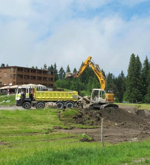 Die Arbeiten für die Umgestaltung des Parkplatzes am Bödele haben vergangene Woche begonnen.