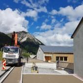 Vereinshaus in Fontanella vor letzter Etappe