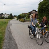 Auf der Fahrradstraße von Götzis nach Altach