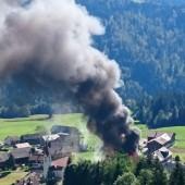In Sibratsgfäll brannte ein Stall