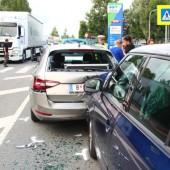 Unfall in Lustenau fordert fünf Verletzte