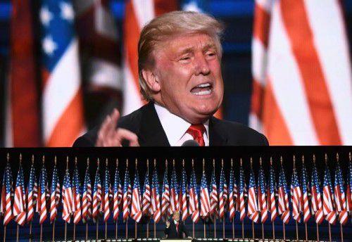 Einer CNN-Umfrage zufolge liegt der US-Republikaner Donald Trump derzeit vor der US-Demokratin Hillary Clinton.