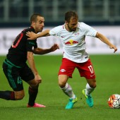 Salzburgs Ulmer spielte gegen Liepaja im Leipzig-Dress