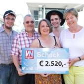 Ma hilft freut sich über 2520 Euro von der Oldtimer-Sternfahrt