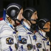 Astronautentrio auf dem Weg zur ISS