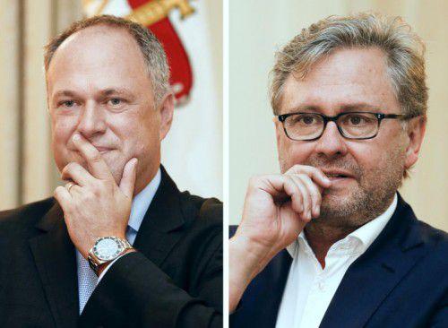 Finanzdirektor Richard Grasl (l.) und ORF-Chef Alexander Wrabetz stehen am Dienstag zur Wahl.