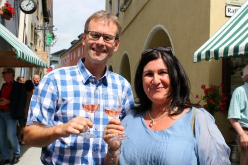 Hanno Reutterer und Andrea Hopfgartner kamen zur Eröffnung ins Städtle.