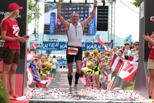 Harald Steger war schnellster Vorarlberger Amateur beim Ironman Austria in Klagenfurt.
