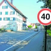 Temporeduktionen in Dornbirner Stadtteilen