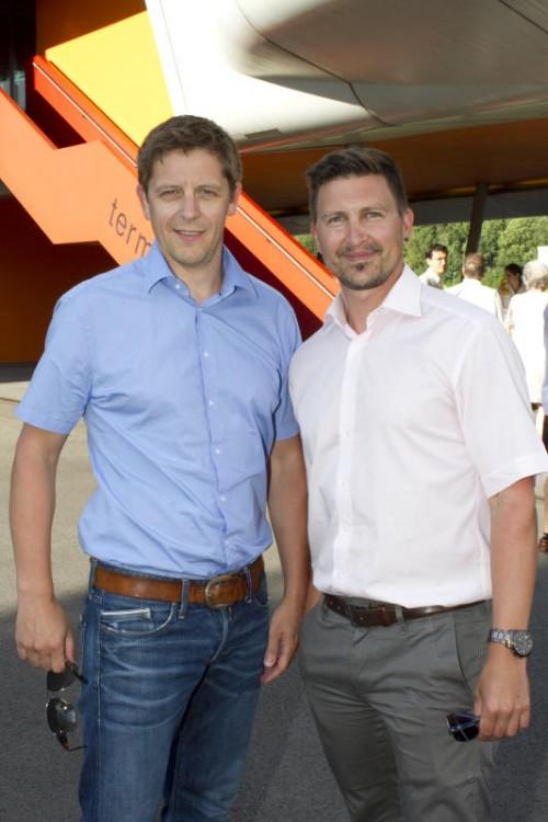 Markus Felder (l.) und Georg Fußenegger (Hypo).