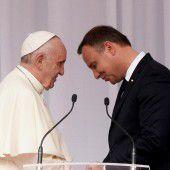Papst fordert Polen zur Hilfe für Flüchtlinge auf