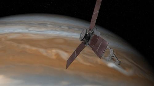 """Seit ihrem Start 2011 hat die Raumsonde """"Juno"""" rund 2800 Millionen Kilometer zurückgelegt."""