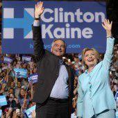 Clinton zieht mit Kaine in die Wahlschlacht