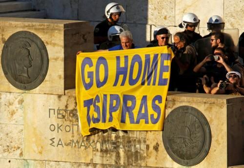 Tsipras und seine Syriza werden zunehmend angefeindet.