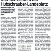 Landeplatz für Hubschrauber am Krankenhaus Dornbirn