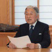 Japans Kaiser Akihito peilt die Abdankung an