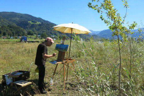 Der Künstler arbeitet am liebsten direkt vor Ort.