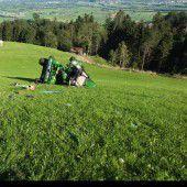 Mit dem Traktor abgestürzt