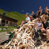 Alpspaß und Arbeit in Schoppernau