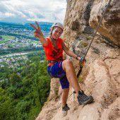 Aussichtsreiche Klettertour über Sandstein und Konglomerat