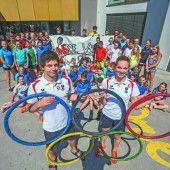 Rio-Starter als Ehrengäste im Camp