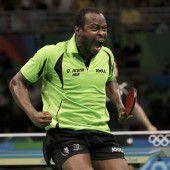 Erster Afrikaner im Tischtennis-Viertelfinale